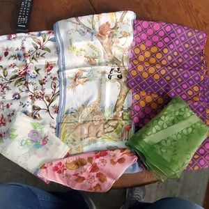 Lot of 6 Vintage long scarfs
